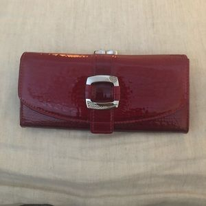 Accessories - Genuine red leather clutch.